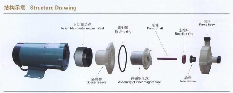 磁力泵结构示意