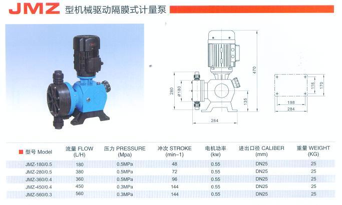 JMZ型机械驱动隔膜式计量泵