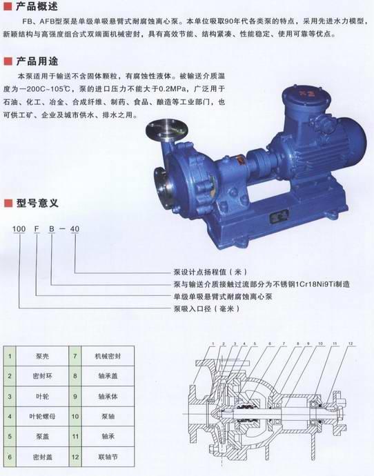 FB,AFB耐腐蚀泵