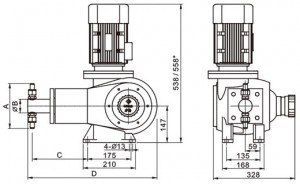 j-zr系列柱塞式计量泵结构图