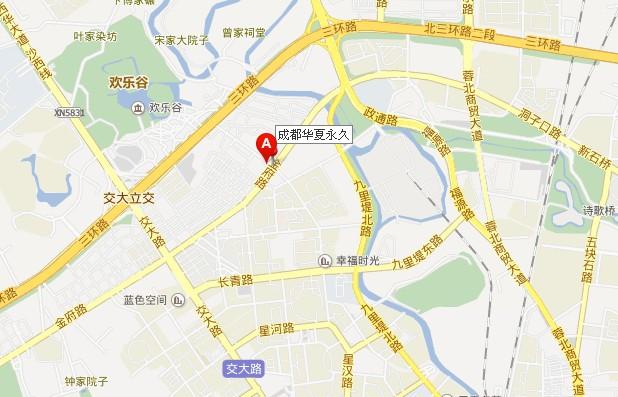 成都永久泵业公司地图