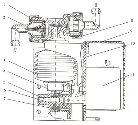 DZN型波纹管药液计量泵结构图